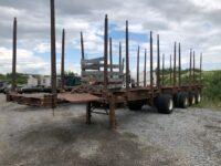 1988 Custom 4 Axle 10 Bunk Log Trailer